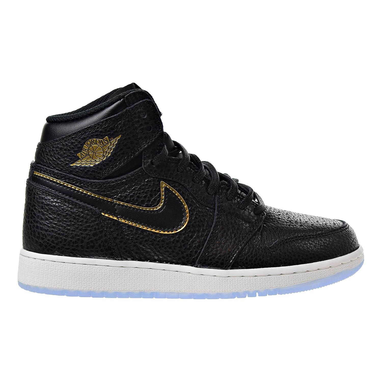 online retailer 75b27 37e63 Details about Air Jordan 1 Retro High OG Big Kids  Sneakers Black Metallic  Gold 575441-031