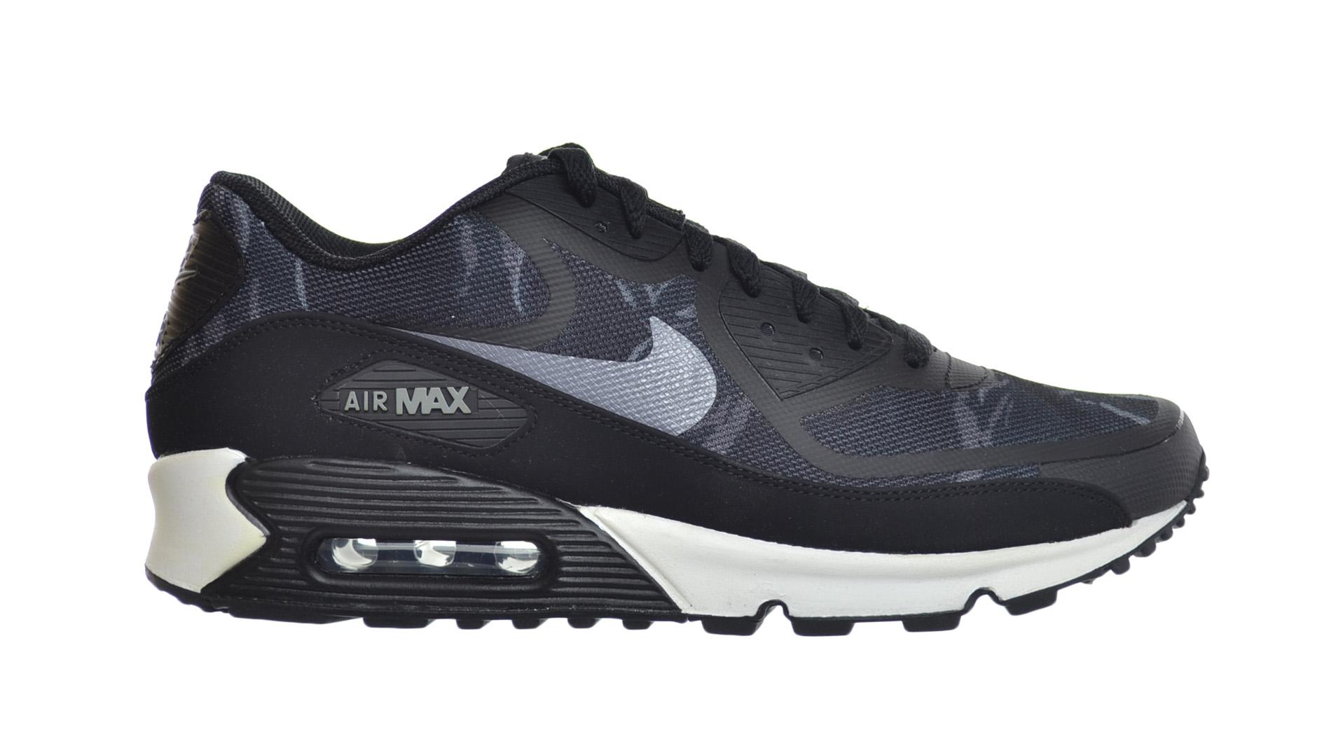 separation shoes aae8d 6c757 Details about Nike Air Max 90 Premium Tape Men s Shoes Black Cool Grey-White  599249-001