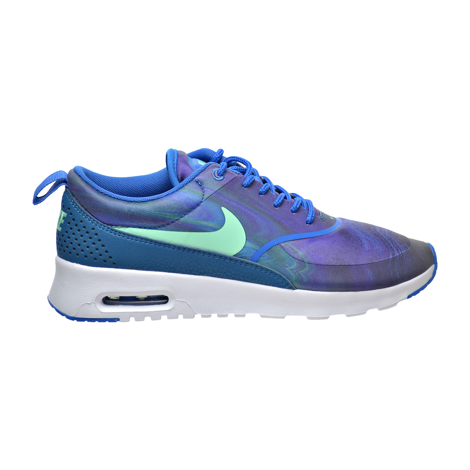 low priced 6dc9a e95f2 Details about Nike Air Max Thea Print Women s Shoes Blue Spark Green Glow  599408-405