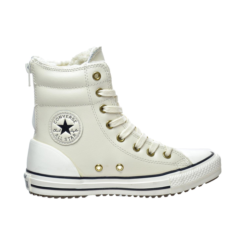 27c6b0e0491a91 Converse Chuck Taylor All Star Hi-Rise X-Hi Little Big Kids Boots  Parchment Black 653389c