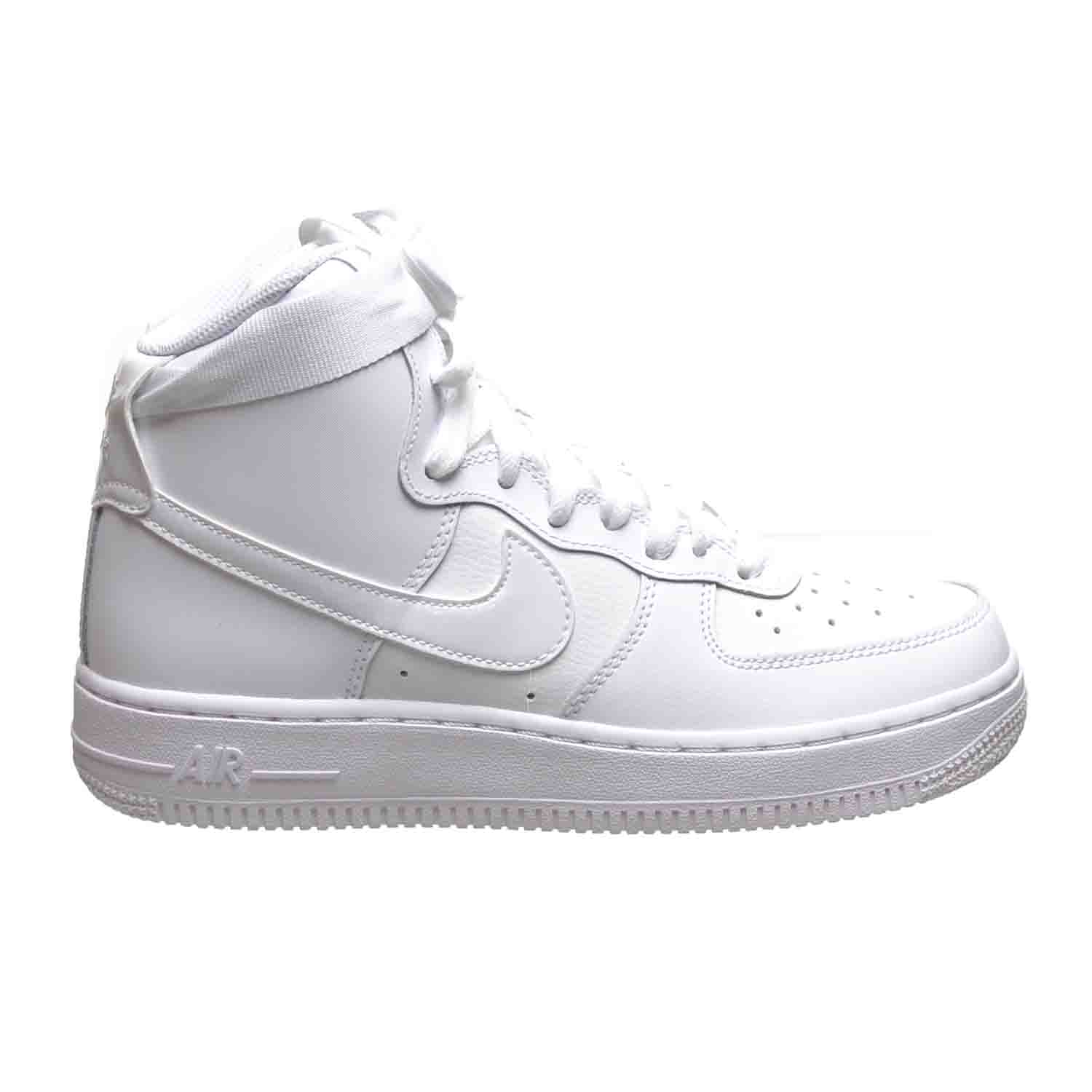 Details about Nike Air Force 1 High (GS) Big Kids Shoes White 653998 100