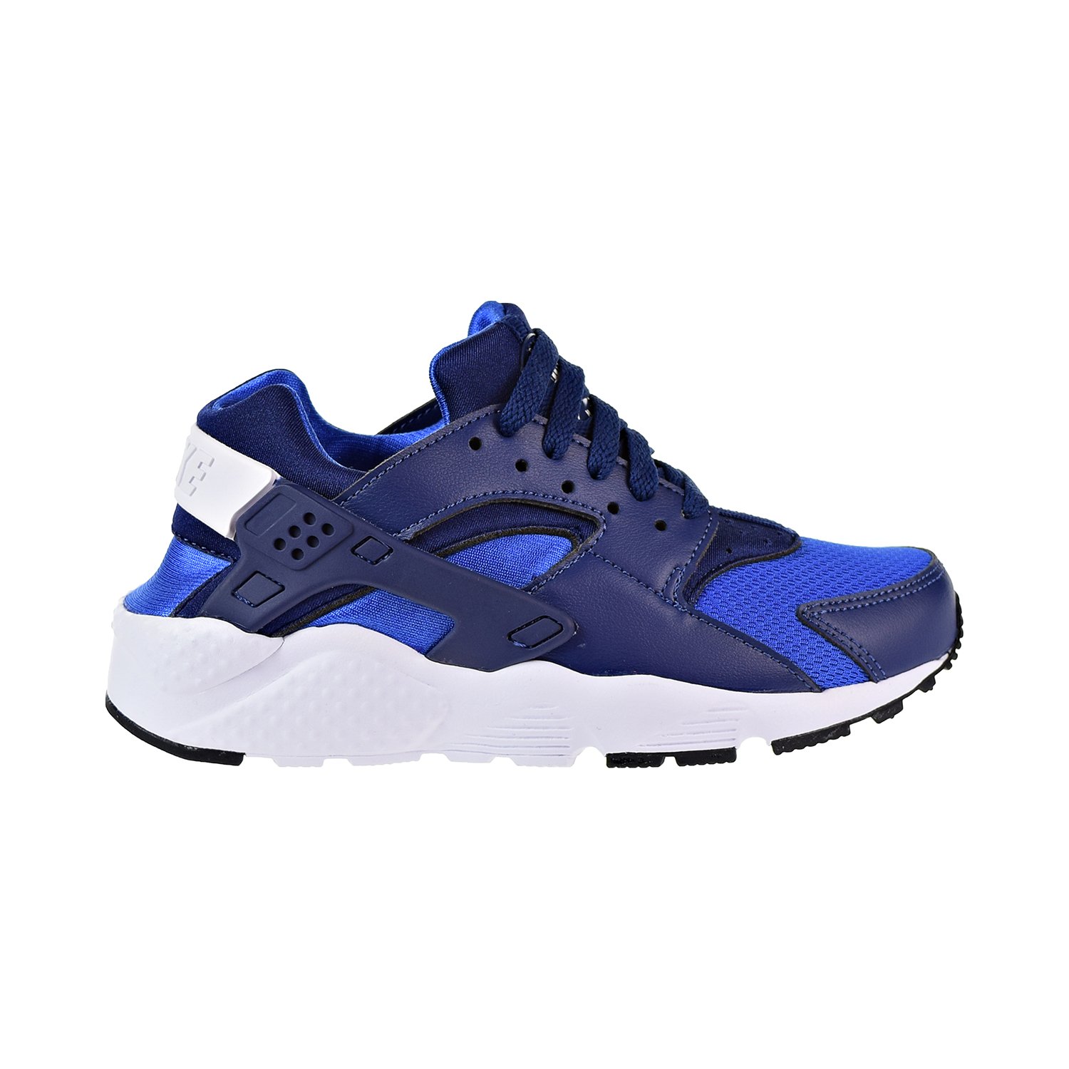 best place cute cheap classic styles Details about Nike Huarache Big Kids' Shoes Blue Void-Game  Royal-Black-White 654275-415