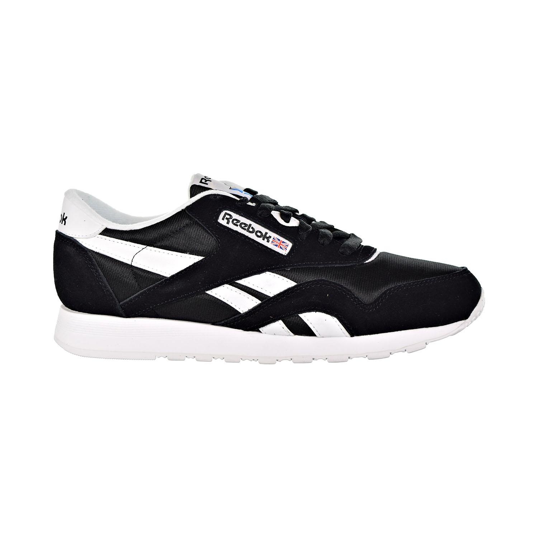 09302001db4 Details about Reebok Classic Leather Nylon Men s Shoes Black White 6604