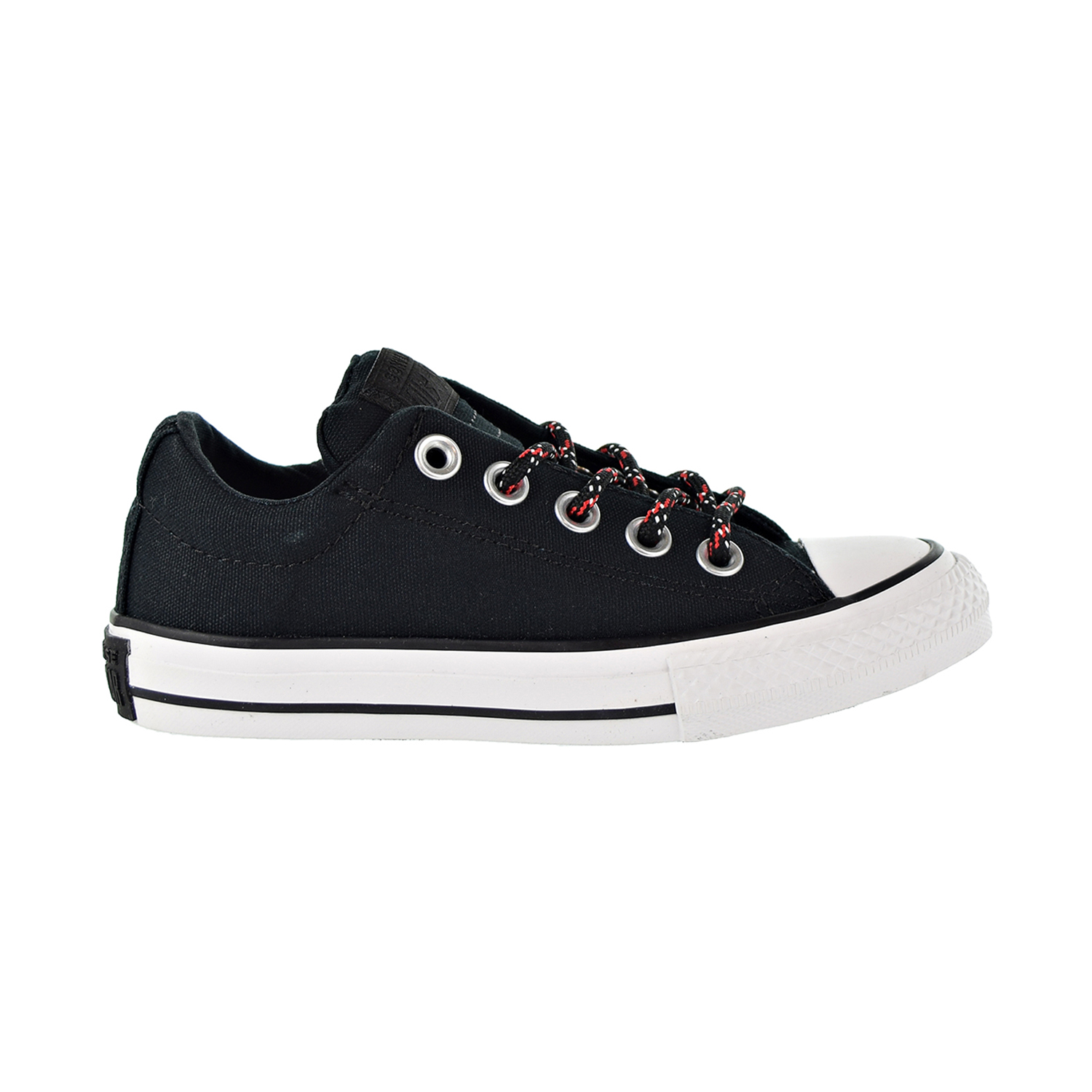 38ed333ffb66 Details about Converse Chuck Taylor All Star Street Slip Kids Shoes  Black Enamel Red 662340F