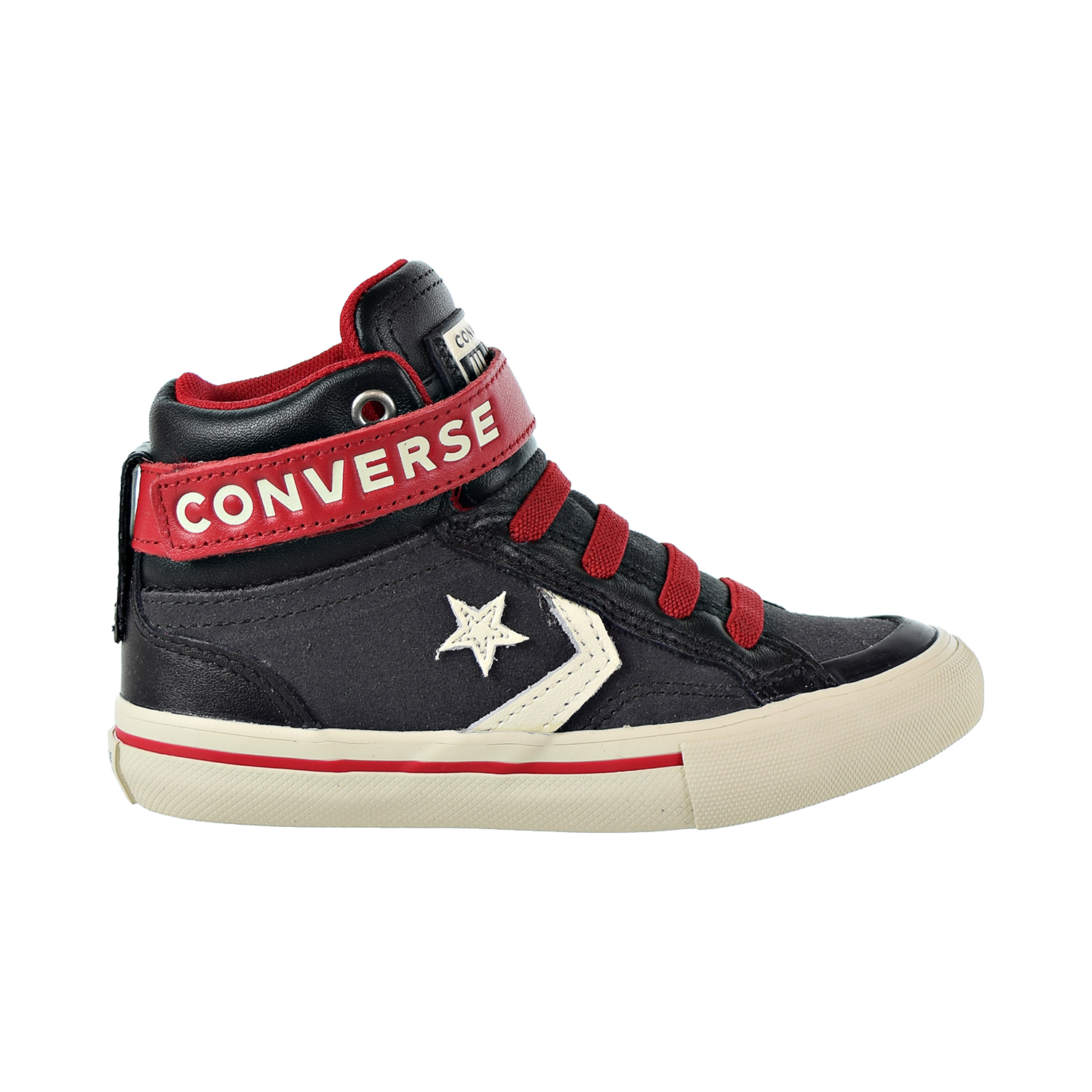 Details about Converse Pro Blaze Strap Hi Kids Shoes Almost  Black-Egret-Turtle Dove 662759c
