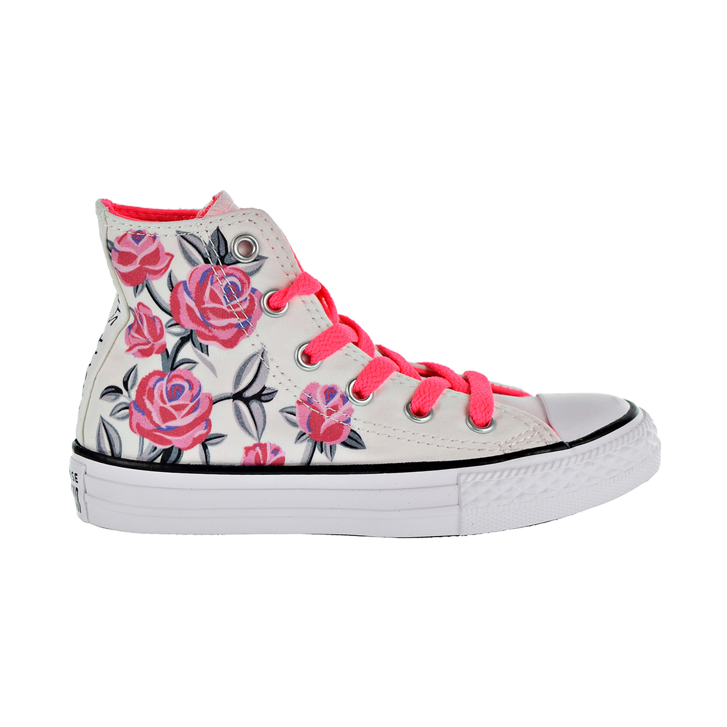 b052fd0c485a Details about Converse Chuck Taylor All Star Hi Little Kids  Shoes  White Racer Pink 663623F