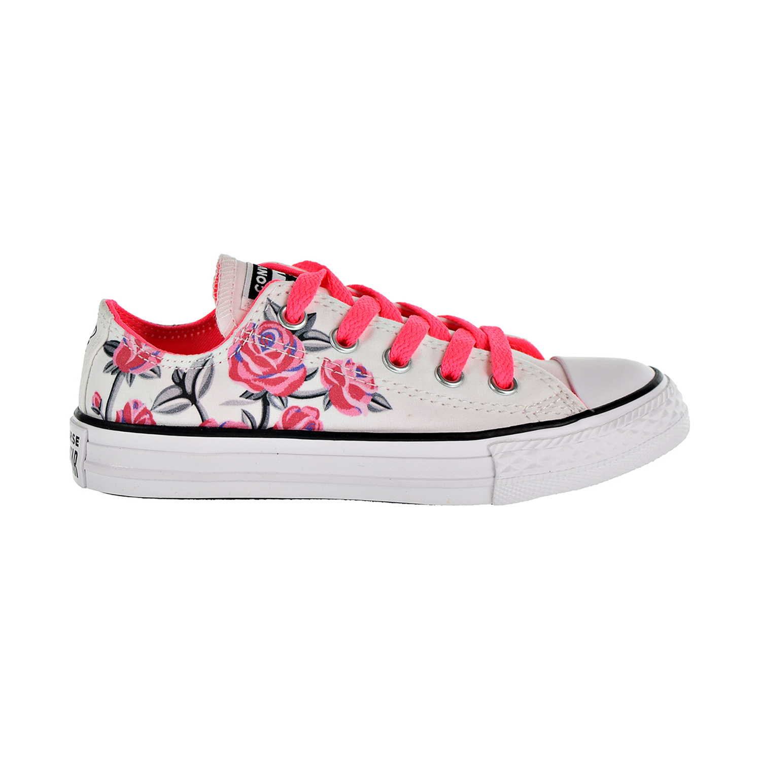 8ef4ab320a48 Details about Converse Chuck Taylor All Star Pretty Strong Kids  Shoes White Pink  663624F