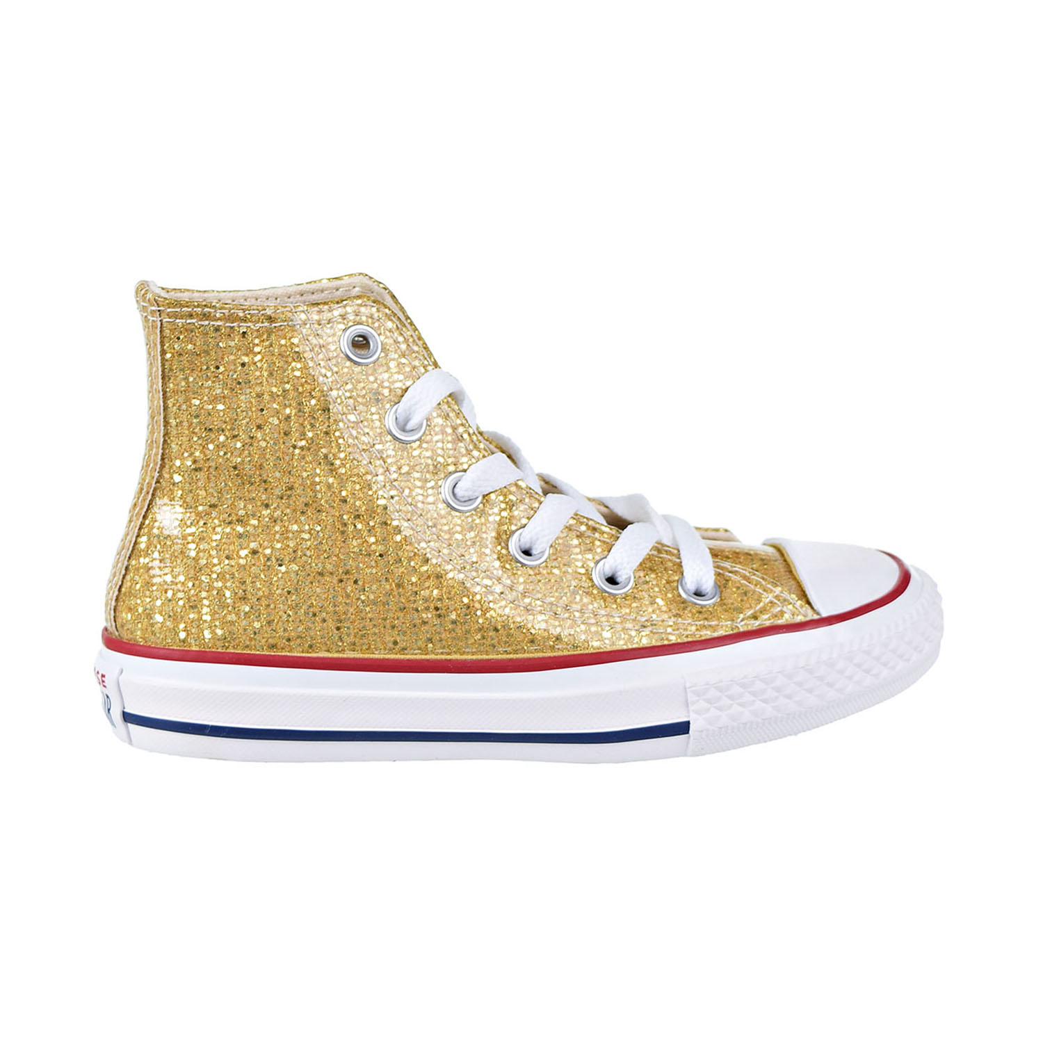 b4896b09ce29 Converse Chuck Taylor All Star Hi Kids  Shoes Gold Enamel Red White 663625c
