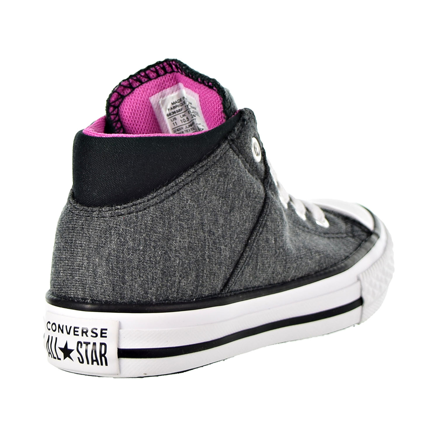 Converse Chuck Taylor All Star Madison Mid Kids/' Shoes Black-Fuchsia 663658F