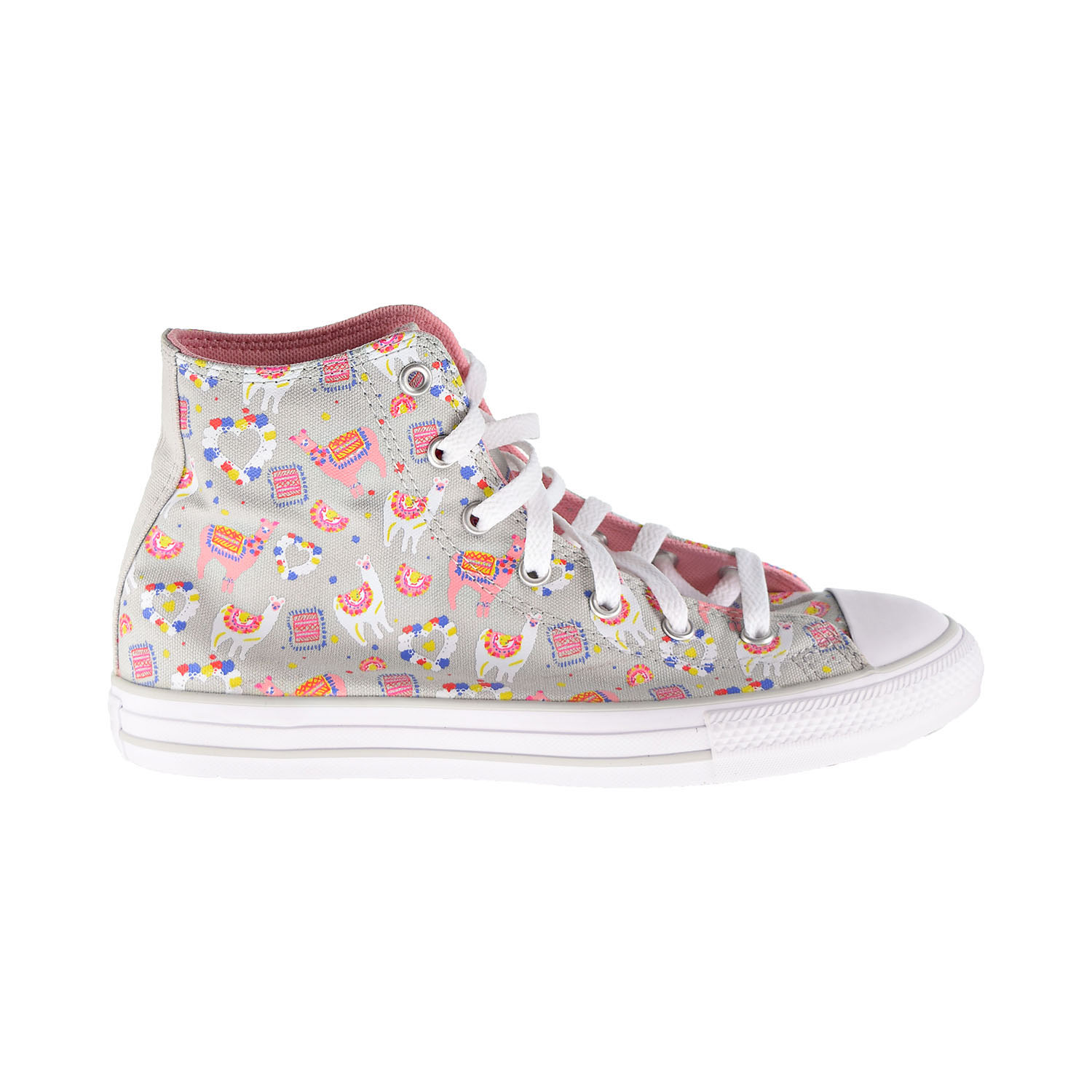 Details about Converse Chuck Taylor All Star Llama Party Hi Kids' Shoes Mouse Pink 666293F