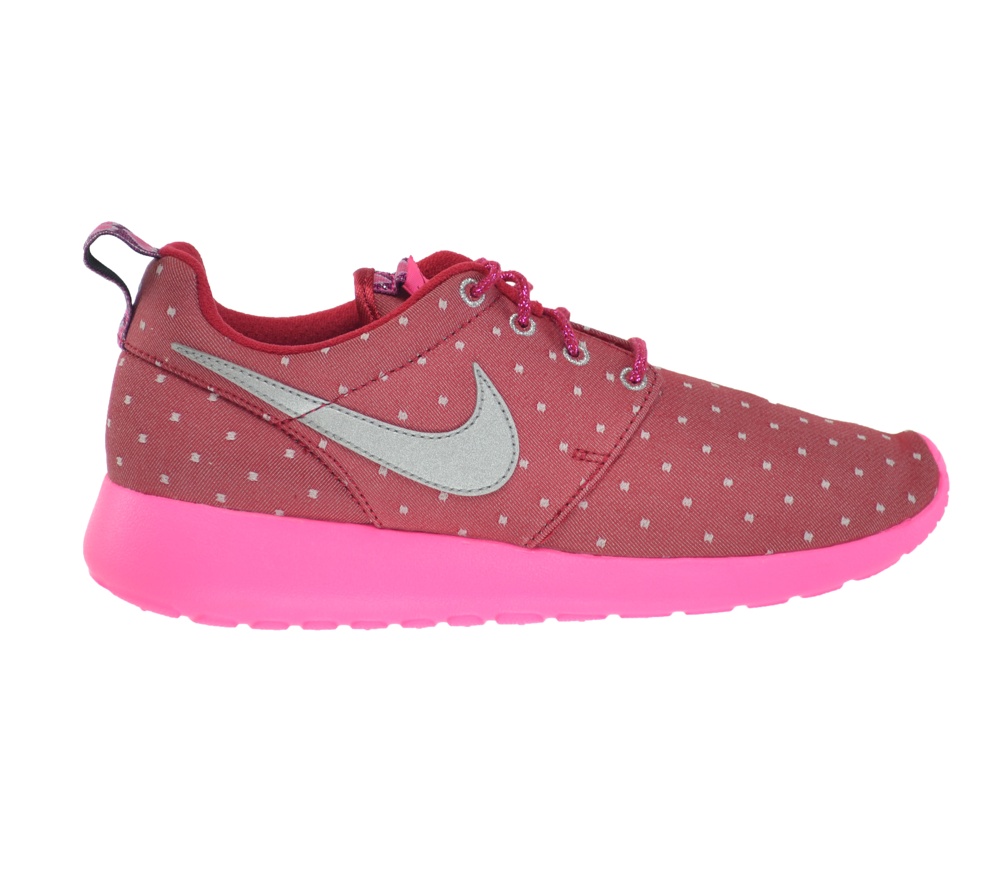 Details about Nike Rosherun Print (GS) Big Kids Shoes RedSilver Pink White 677784 606