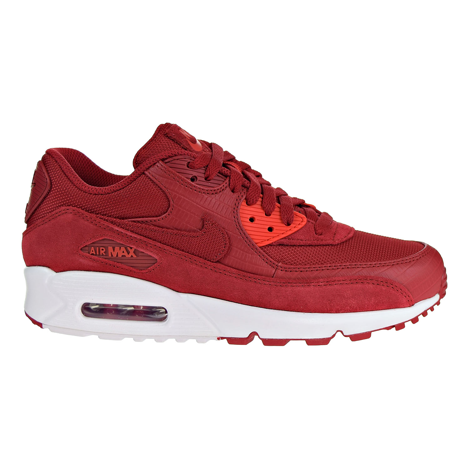 Details about Nike Air Max 90 Premium Mens Shoes Gym Red Gym Red White 700155 602