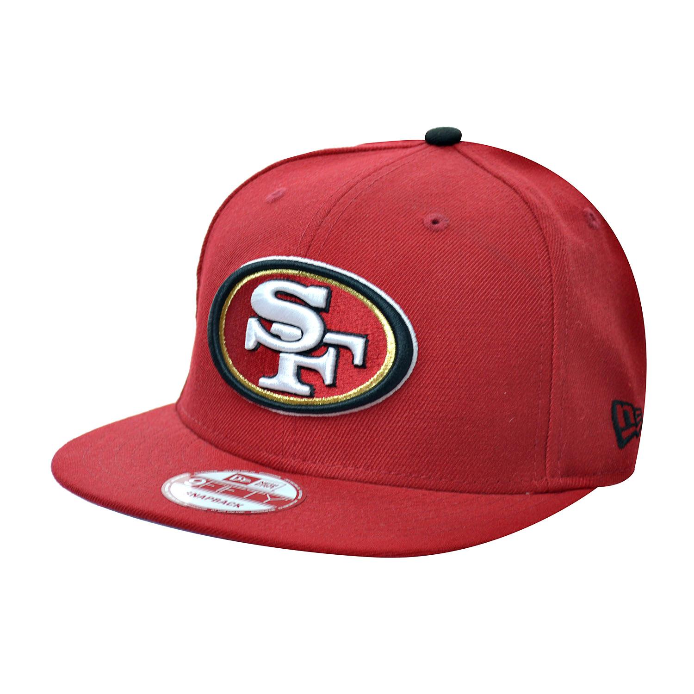 NEW ERA 950 NFL San Francisco 49ers Red Embroidered Adjustable Snapback Men Hat
