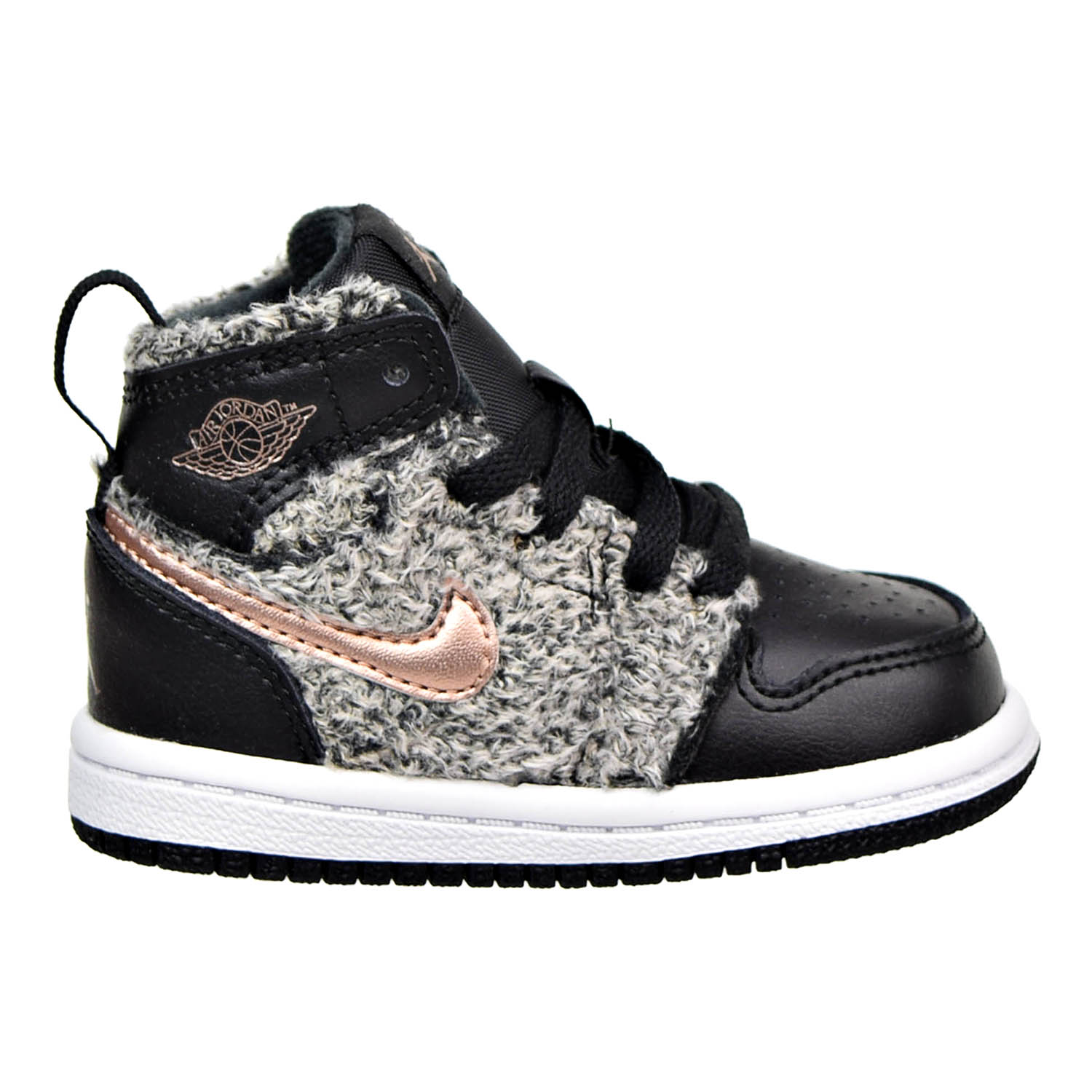 45c9048b483be Details about Jordan 1 Retro High GT Toddler's Shoes Black/Red  Bronze-705324-022