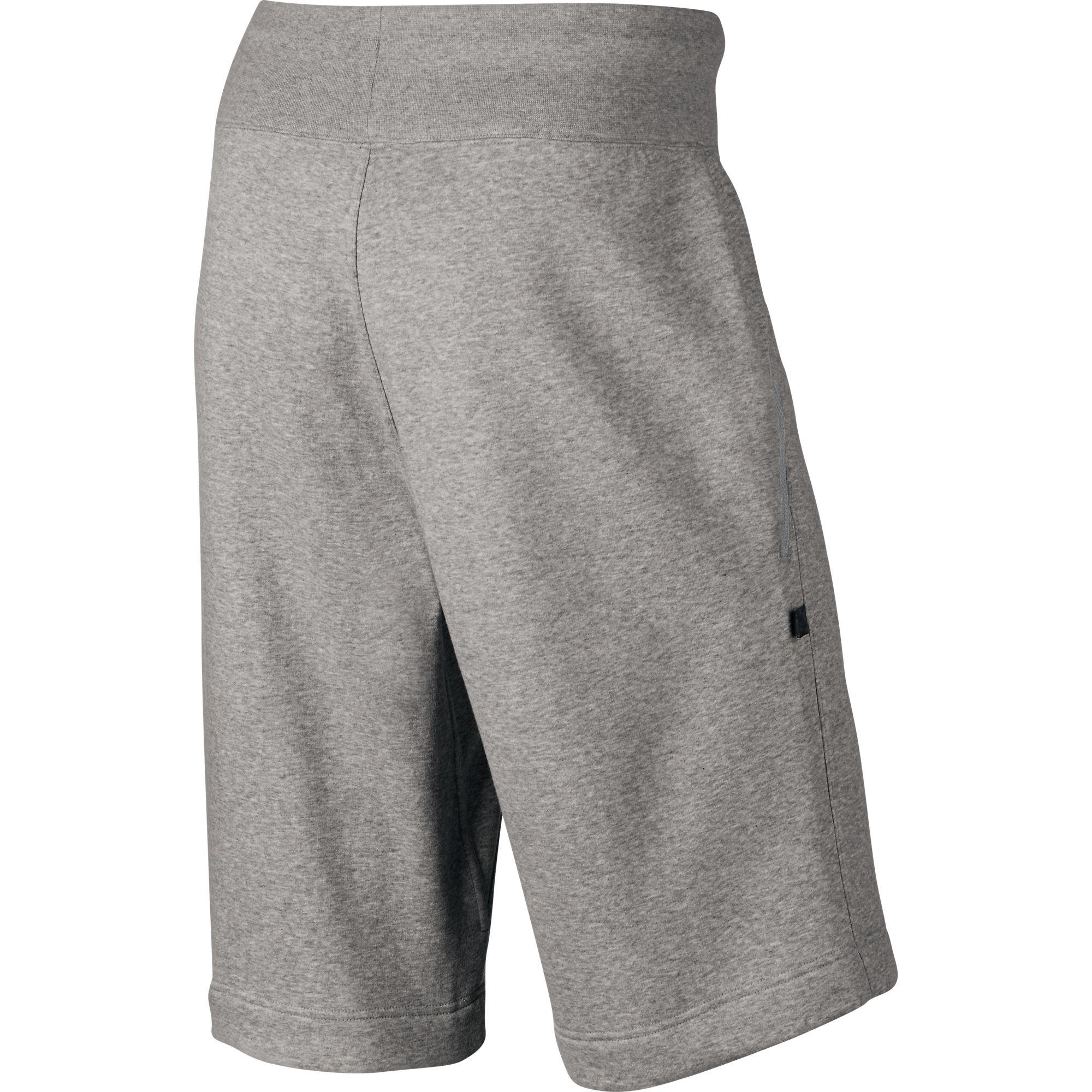 57ae9b626d0fd Jordan AJ VIII Fleece Men's Shorts Dark Grey Heather/Black 706730-063