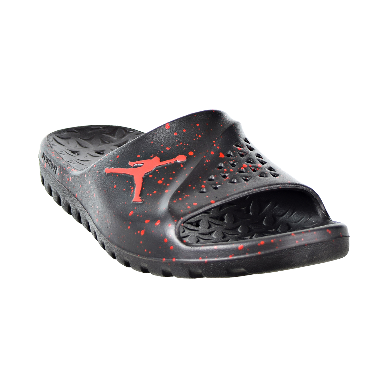 35a31839f Details about Jordan Super.Fly Team Men s Slides Black University Red  716985-062