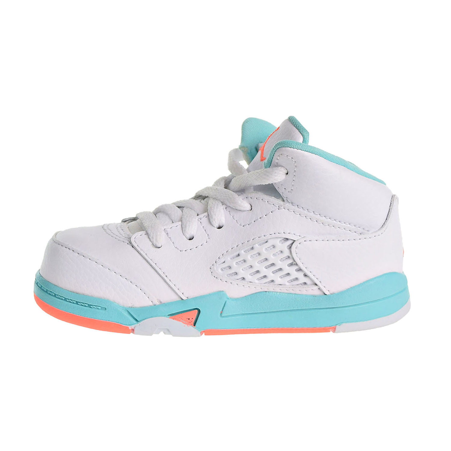9f948749043 Jordan 5 Retro GT Toddler's Shoes White/Crimson Pulse/Light Aqua 725172-100