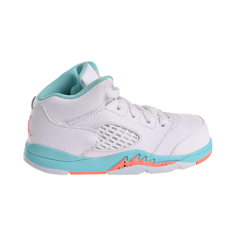finest selection 10955 882bf Details about Jordan 5 Retro GT Toddler s Shoes White Crimson Pulse Light  Aqua 725172-100