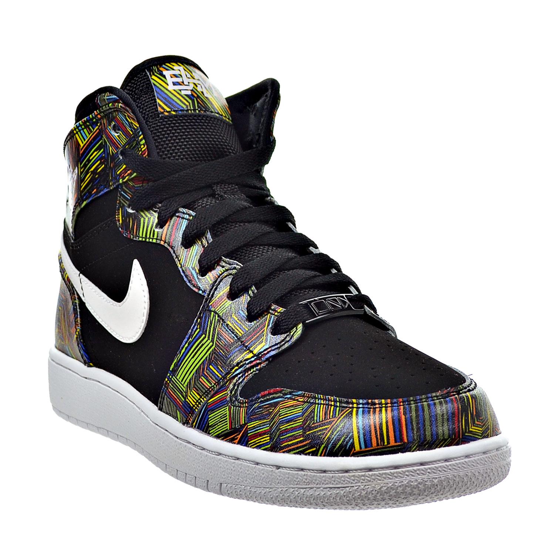 new styles 39c62 8cadd Air Jordan 1 Retro High BHM Big Kid s Shoes Black White Voltage Green  739640-045