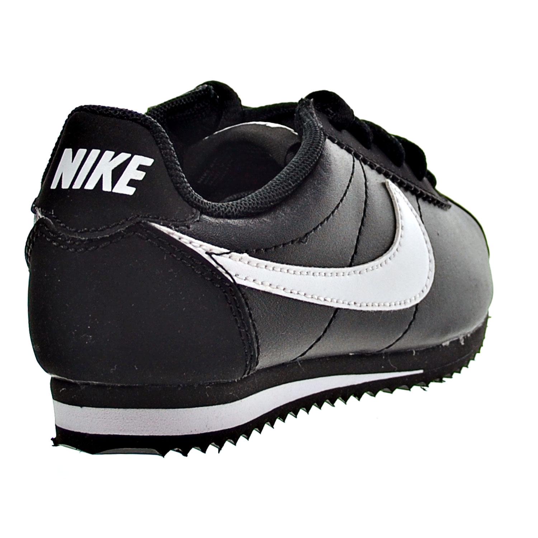 YOUTH SNEAKERS BLACK//WHITE 749494 001 Size 1.5Y PS NIKE CORTEZ NYLON