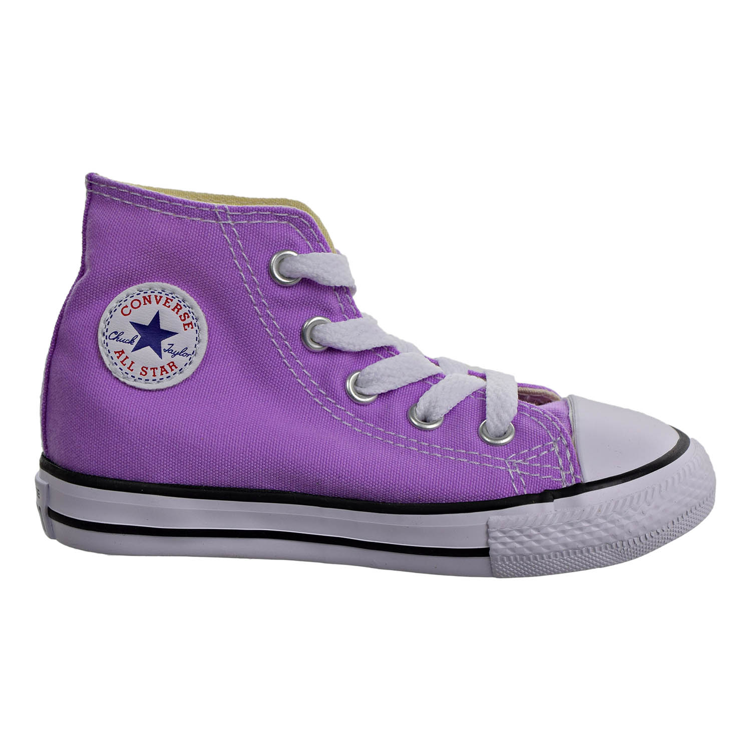945bab6e08980b Details about Converse Chuck Taylor All Star Hi Top Infant Toddler Shoes  Fuchsia Glow 755570f