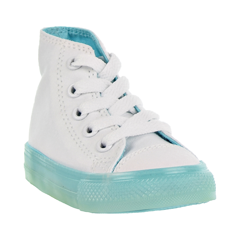 d10f05e0b31 Converse Chuck Taylor All Star Hi Toddler Shoes White Bleached Aqua 760718c