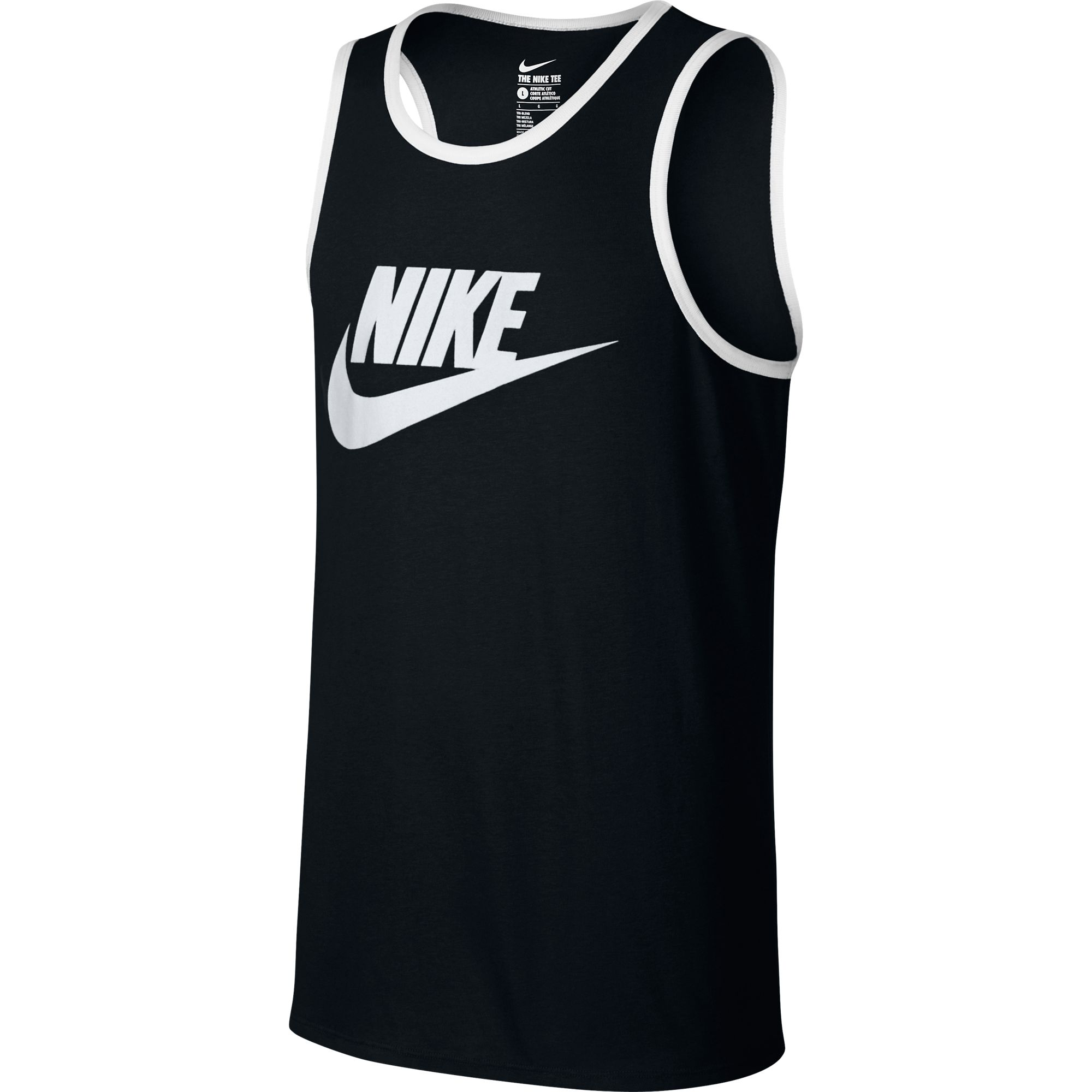 08b40d1060 Nike ACE Logo Men s Tank Top Athletic Black White 779234-011