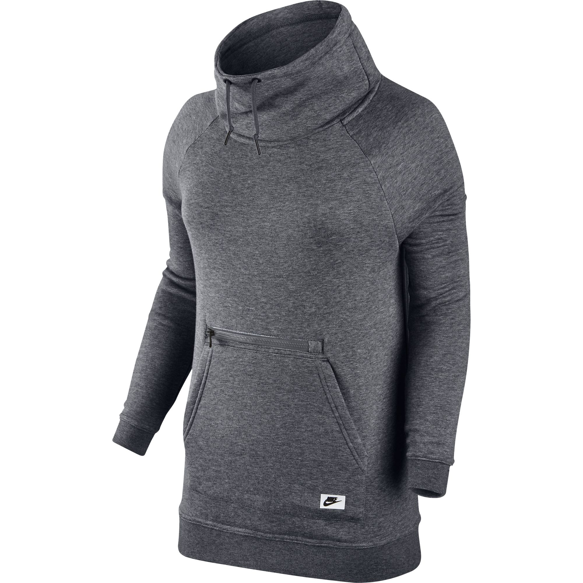 7fa27068b4e0 Details about Nike Sportswear Modern Funnel Neck Women s Sweatshirt Grey Black  803599-091