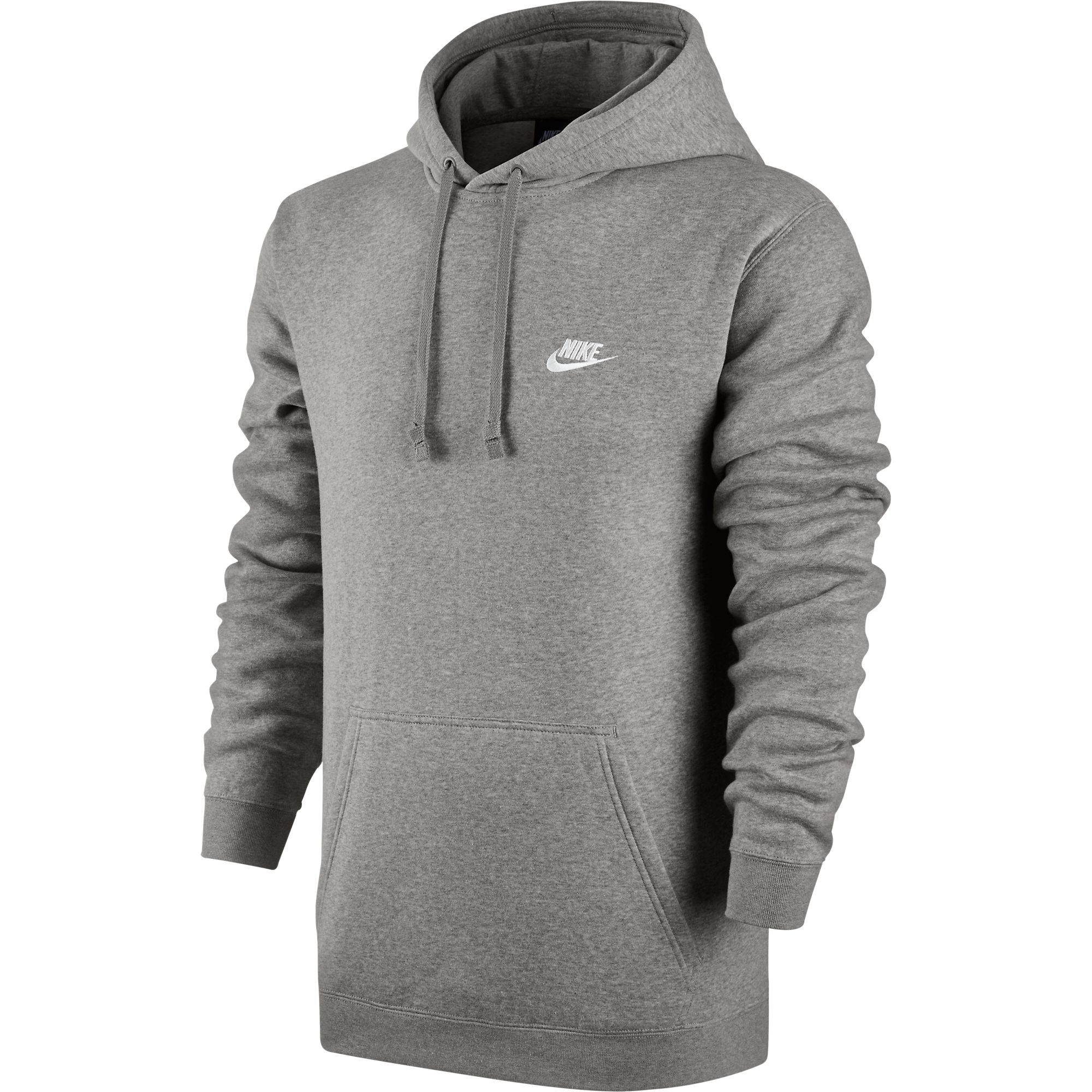 Details about Nike Club Fleece Pullover Longsleeve Men s Hoodie Grey White  804346-063 1bde1874659a