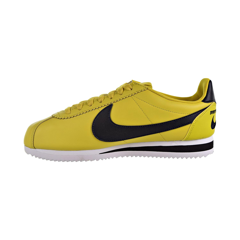 3c065f41ccb01 Nike Classic Cortez Premium Men's Shoes Bright Citron/Black/White 807480-700