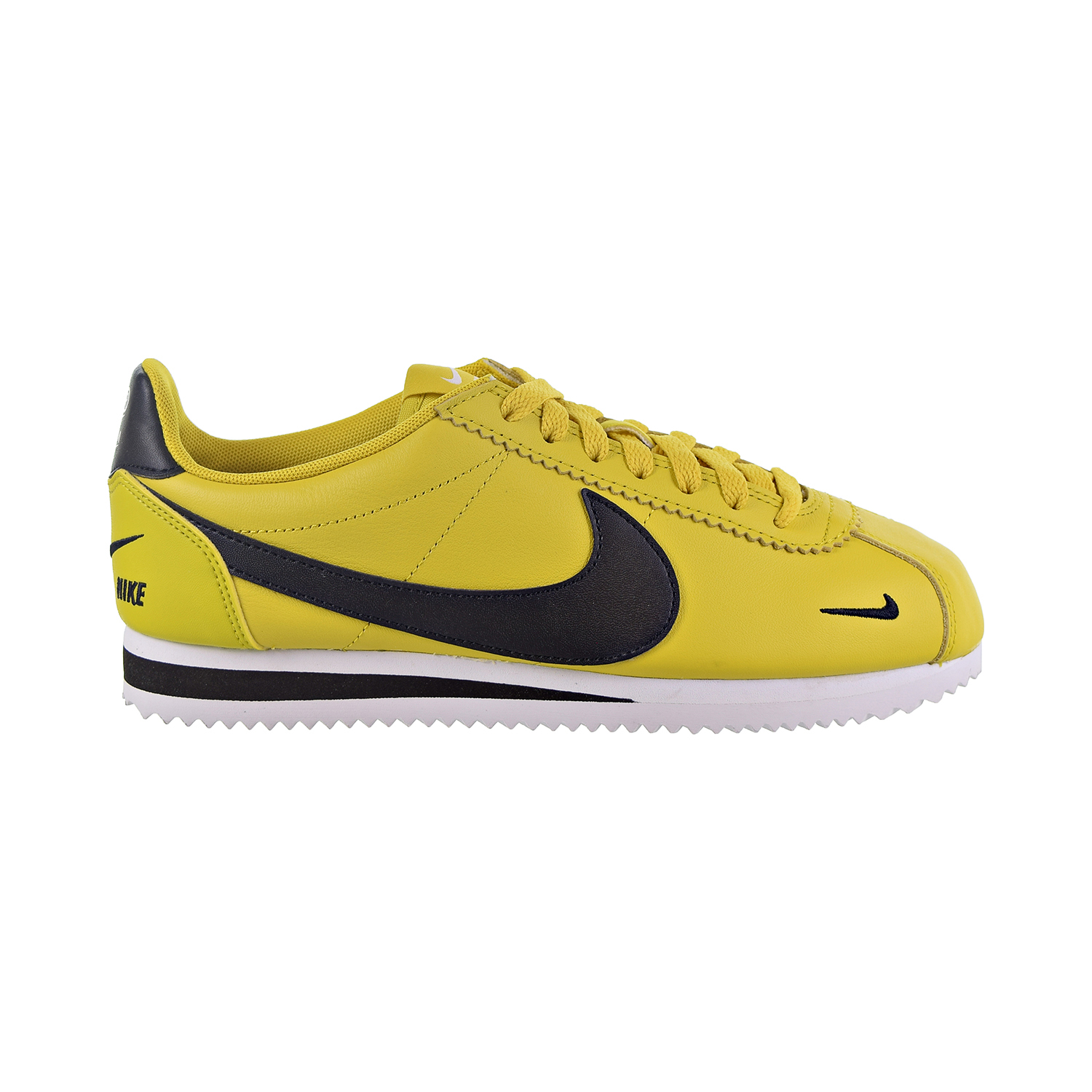 outlet store 1d598 73c10 Details about Nike Classic Cortez Premium Men's Shoes Bright  Citron/Black/White 807480-700