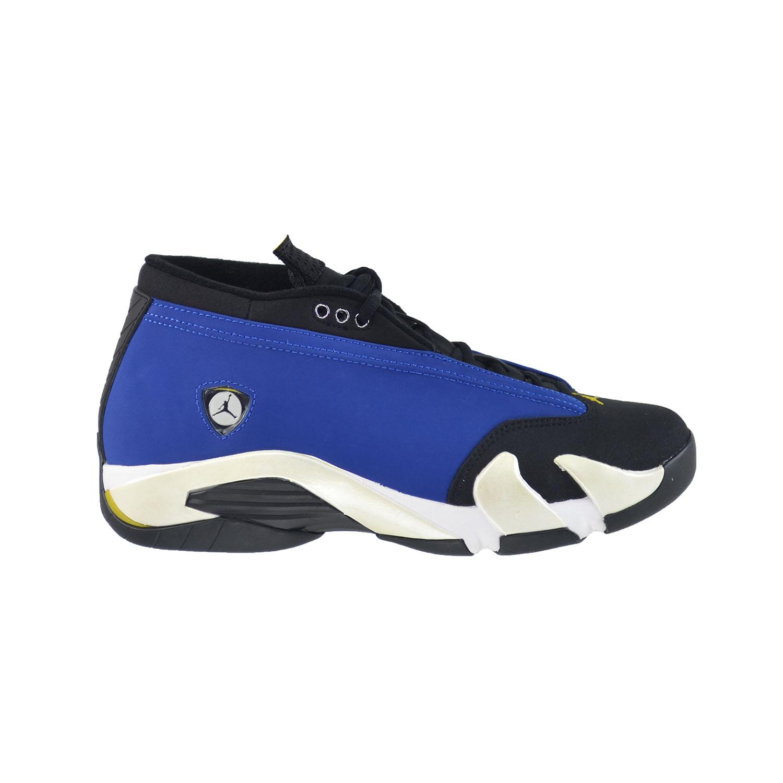 682a68e0e38b Details about Air Jordan 14 Retro Low Men s Shoes Varsity Royal Black-White  807511-405