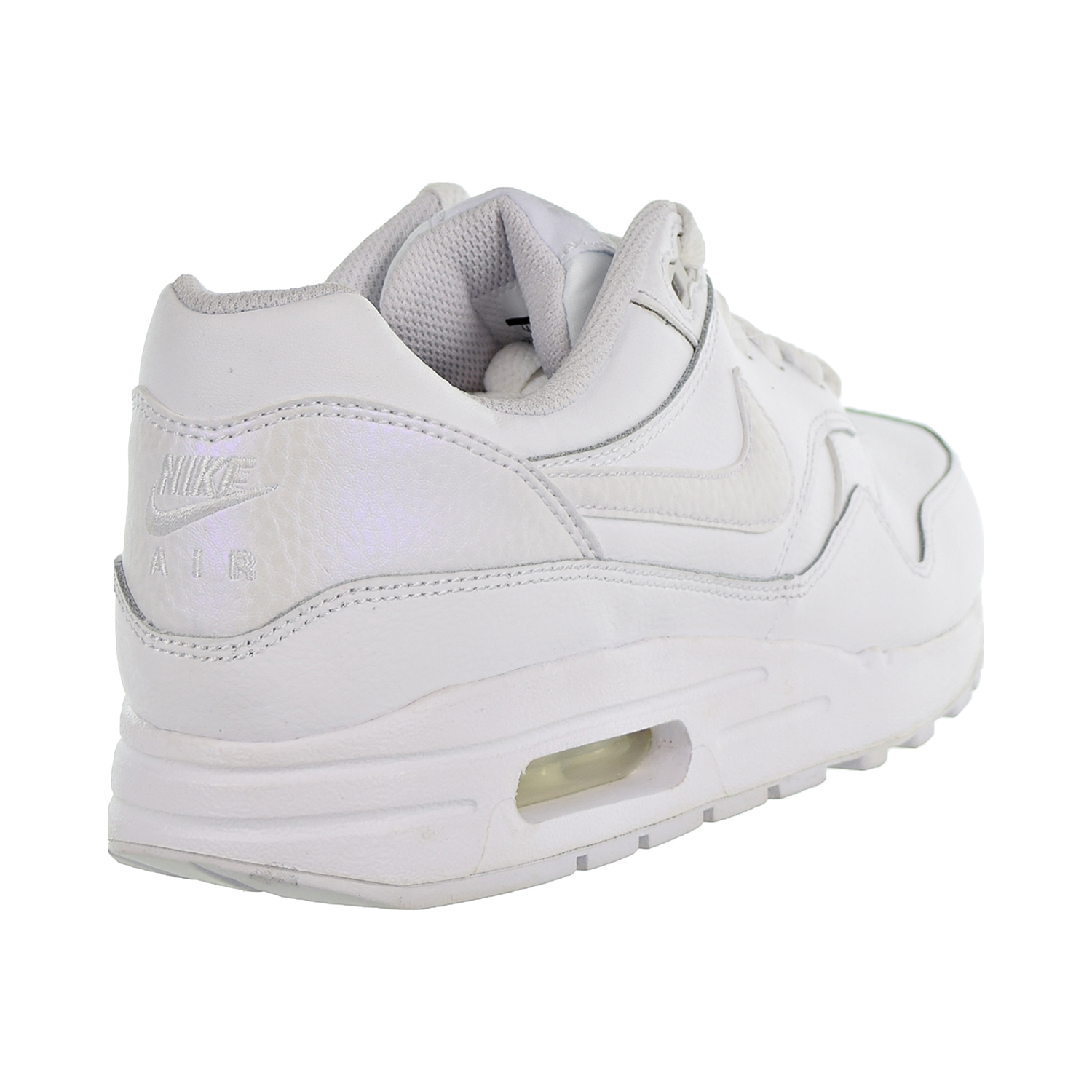 Details about Nike Air Max 1 Big Kids' Shoes White Vast Grey 807605 105