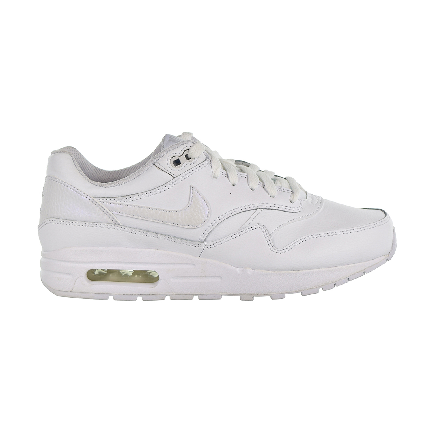 new arrival 28c51 934e3 Details about Nike Air Max 1 Big Kids  Shoes White Vast Grey 807605-105