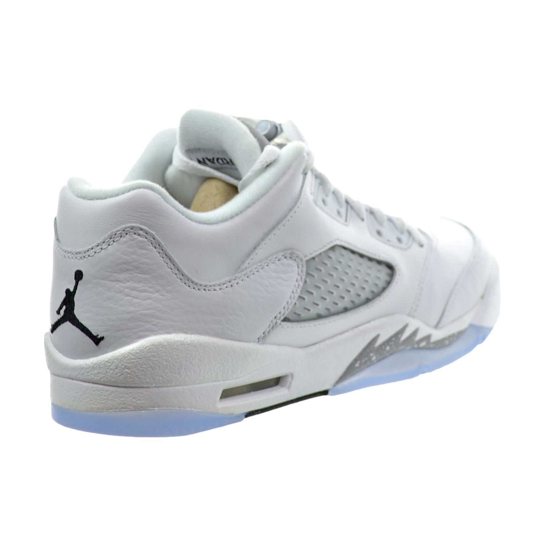 the latest c63c7 0f96e Details about Air Jordan 5 Retro Low GG Big Kid s Shoes White Black Wolf  Grey 819172-122