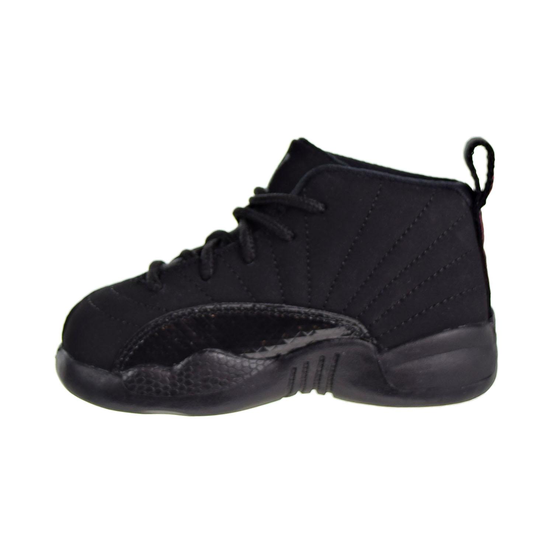 88f5d84c9e60 Jordan 12 Retro TD Toddler s Shoes Black Dark Grey Rush Pink 819666 ...