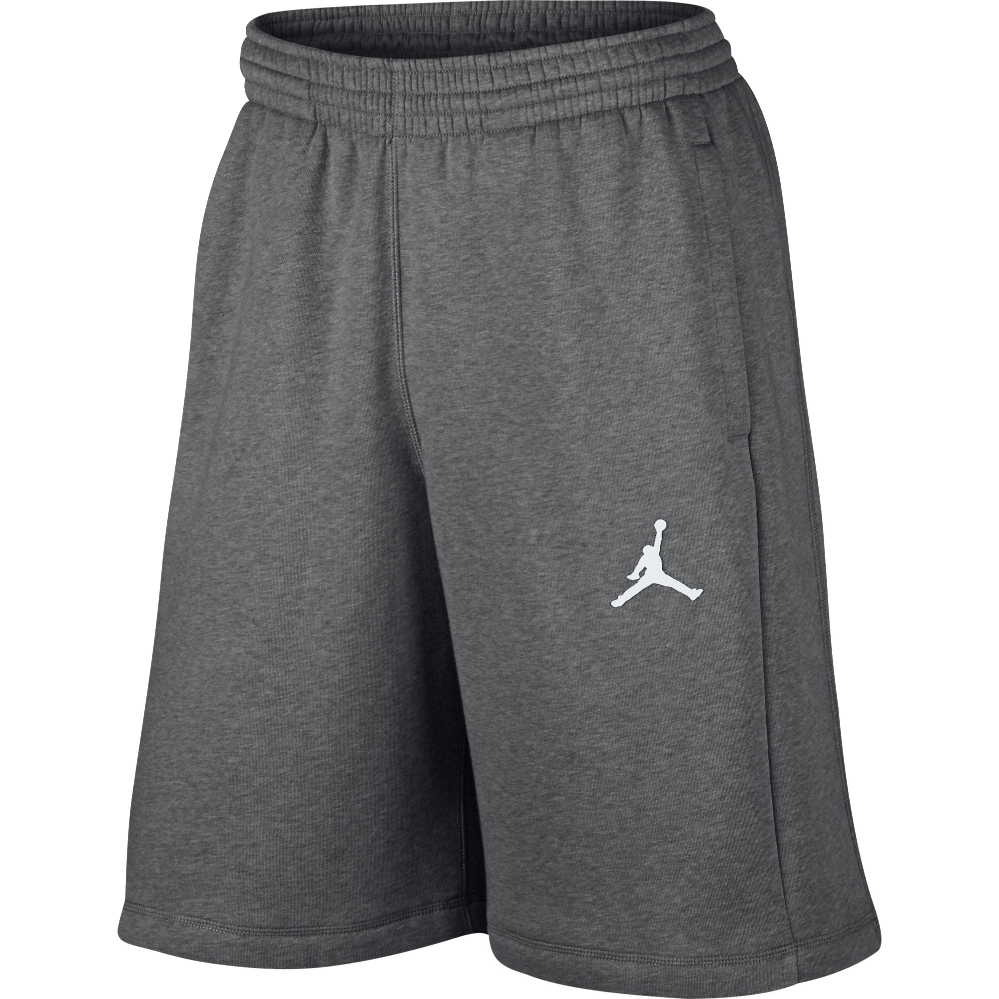 ca882d53fa6 Details about Jordan Jumpman Flight Fleece Men's Shorts Carbon  Heather/White 824020-091
