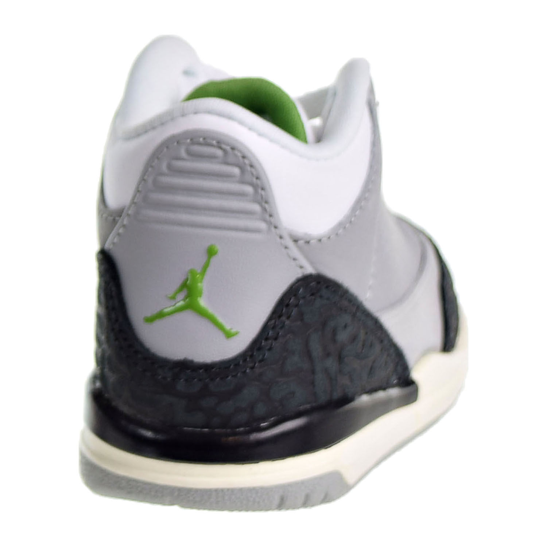 0bbc3fa3880173 Jordan 3 Retro Toddler s Shoes Light Smoke Grey Chlorophyll 832033 ...