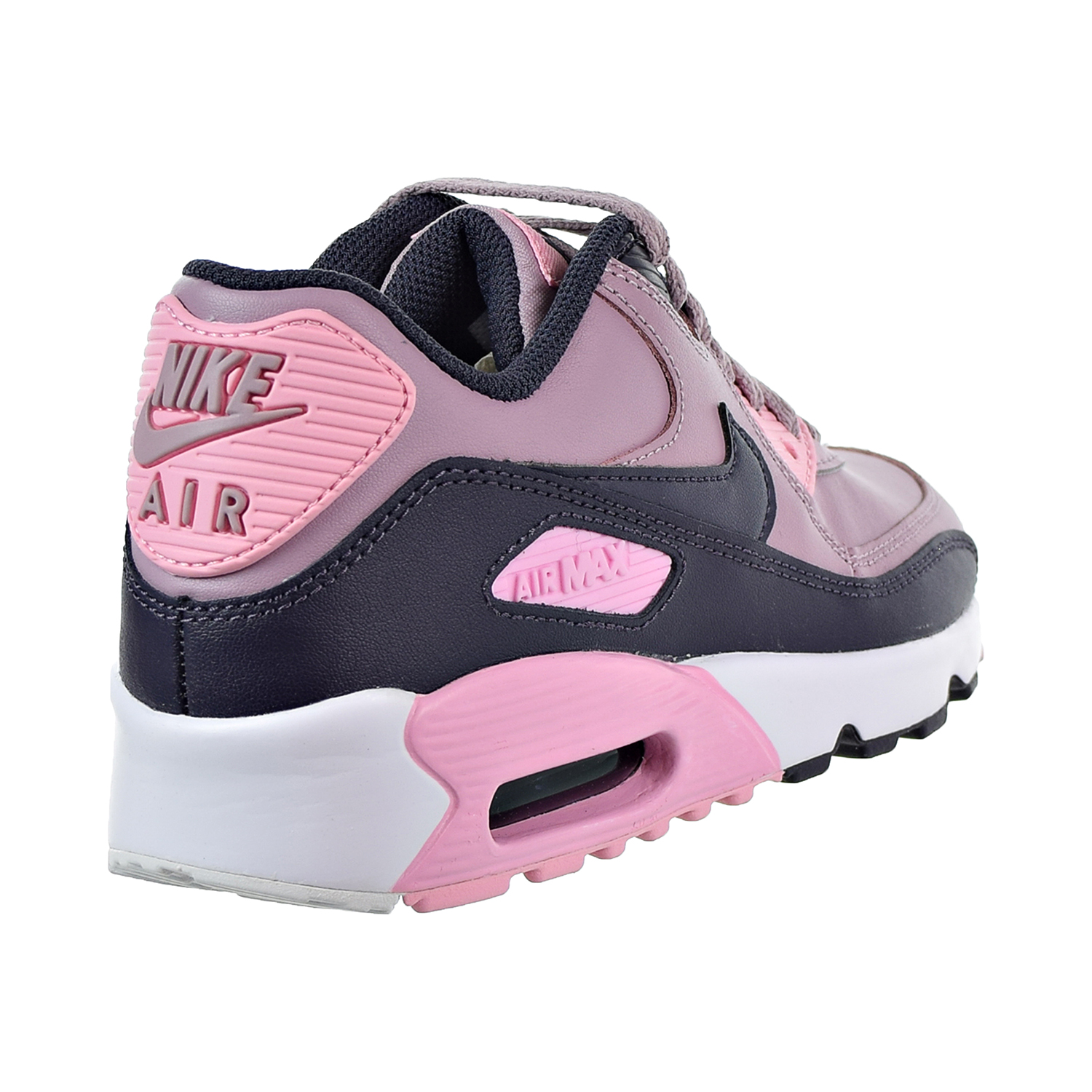the latest 8c068 b8643 Nike Air Max 90 Leather Big Kids  Shoes Elemental Rose Gridiron Pink White  833376-602