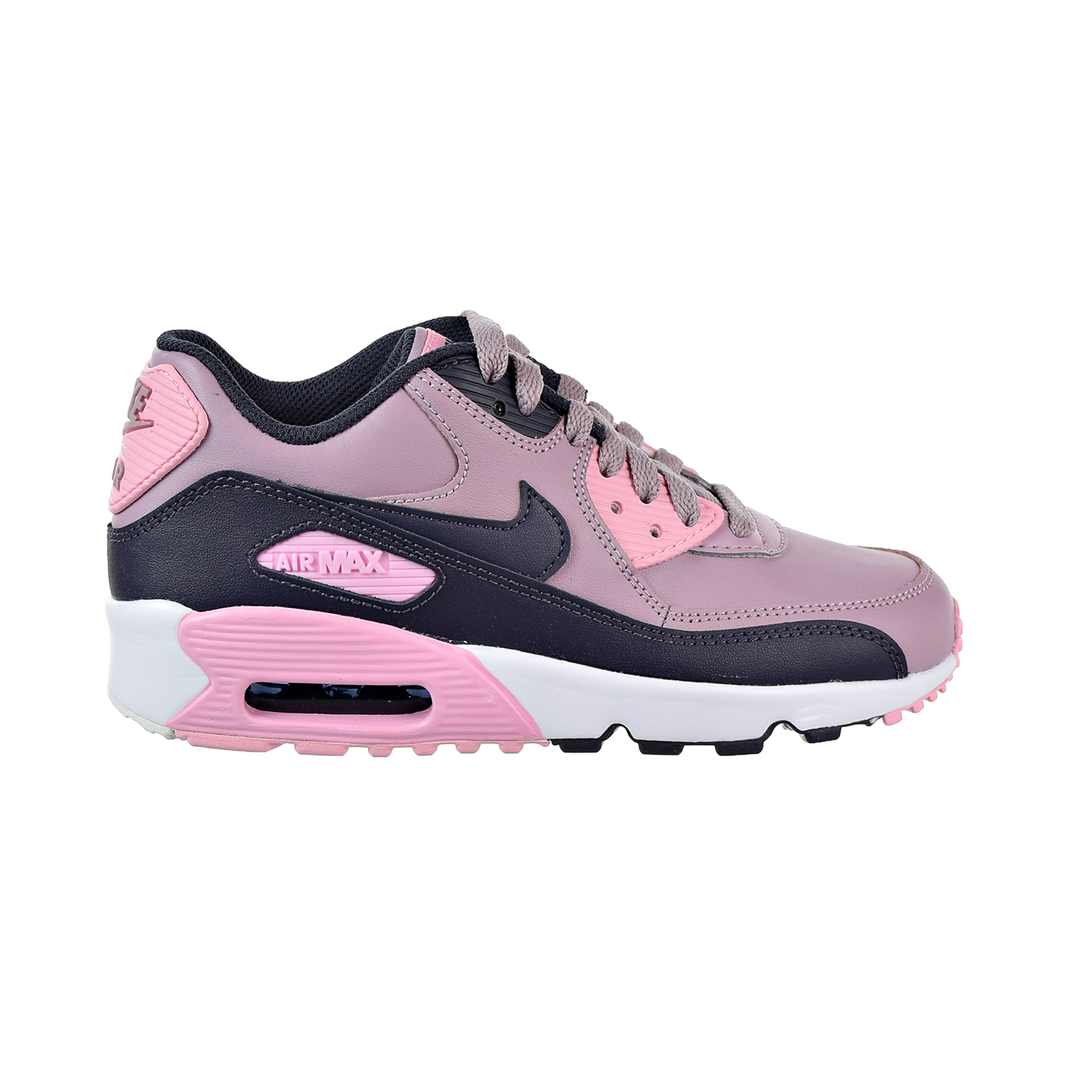 Details about Nike Air Max 90 Leather Big Kids  Shoes Elemental  Rose Gridiron Pink 833376-602 366ca7b6f2d86