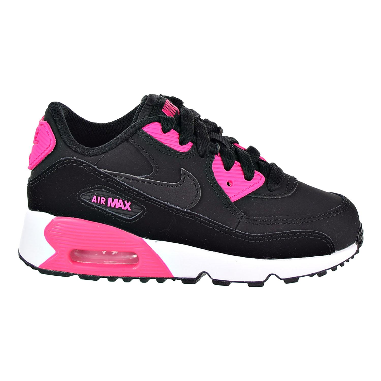 Detalles acerca de Nike Air Max 90 De Cuero (PS) Kid'S Zapatillas Zapatos NegroRosa 833377 010 mostrar título original