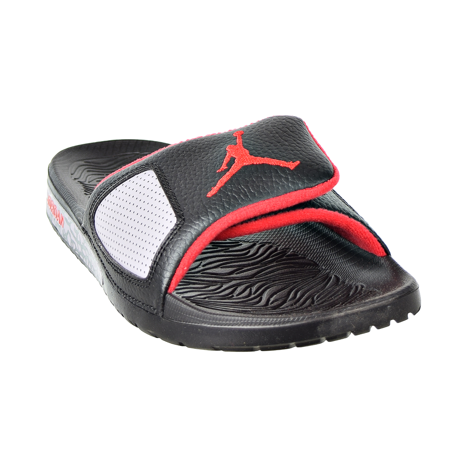 204087993d8efc Details about Jordan Hydro III Retro Men s Slides Black University Red  854556-003