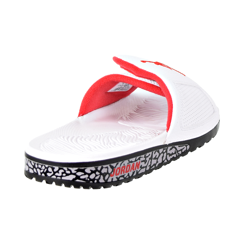 56b4166272e Jordan Hydro III Retro Men s Slides White University Red Black 854556-103