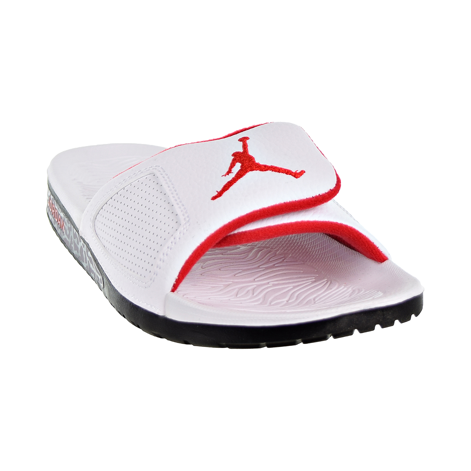 san francisco a2b28 3b2d8 Details about Jordan Hydro III Retro Men s Slides White University Red Black  854556-103