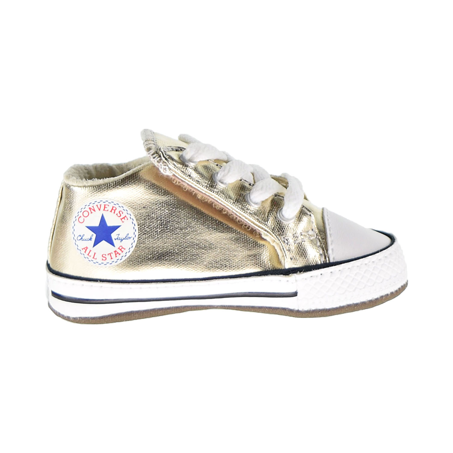 Details about Converse Chuck Taylor All Star Cribster Mid Baby Shoes Light Gold Ivory 866037C