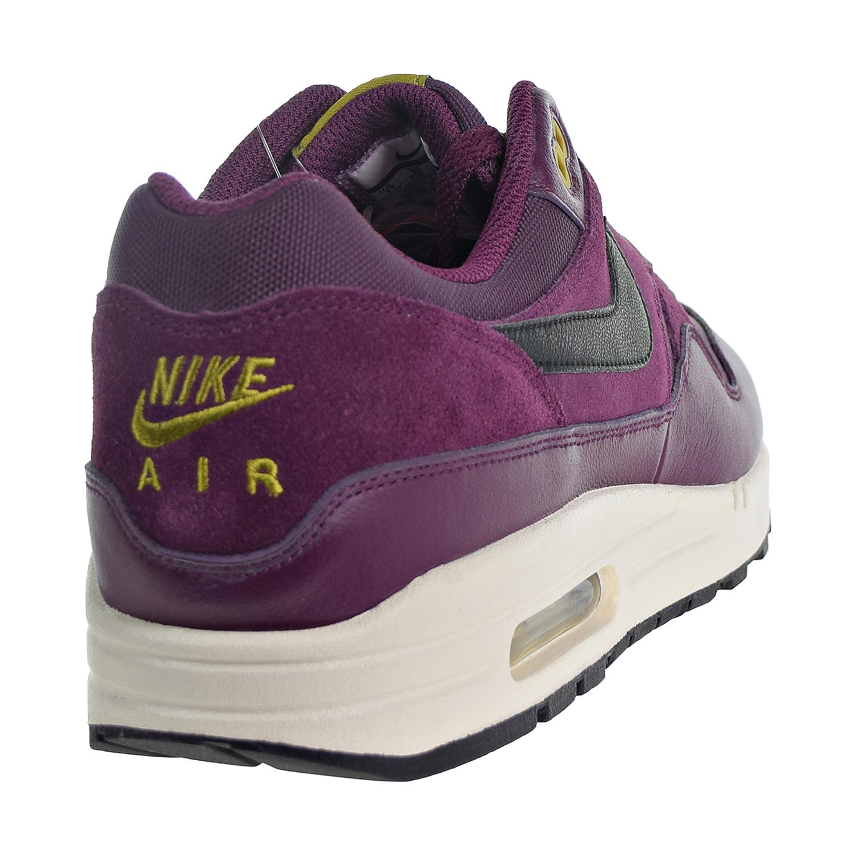 754a486504 Nike Air Max 1 Premium Men's Shoes Bordeaux/Desert Moss/Black 875844-601