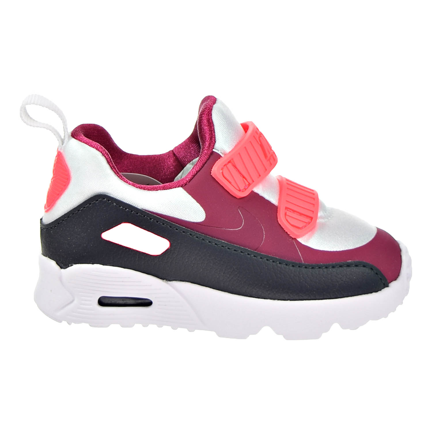 Details about Nike Air Max Tiny 90 Toddlers' Shoes White Noble Red Anthracite 881924 101