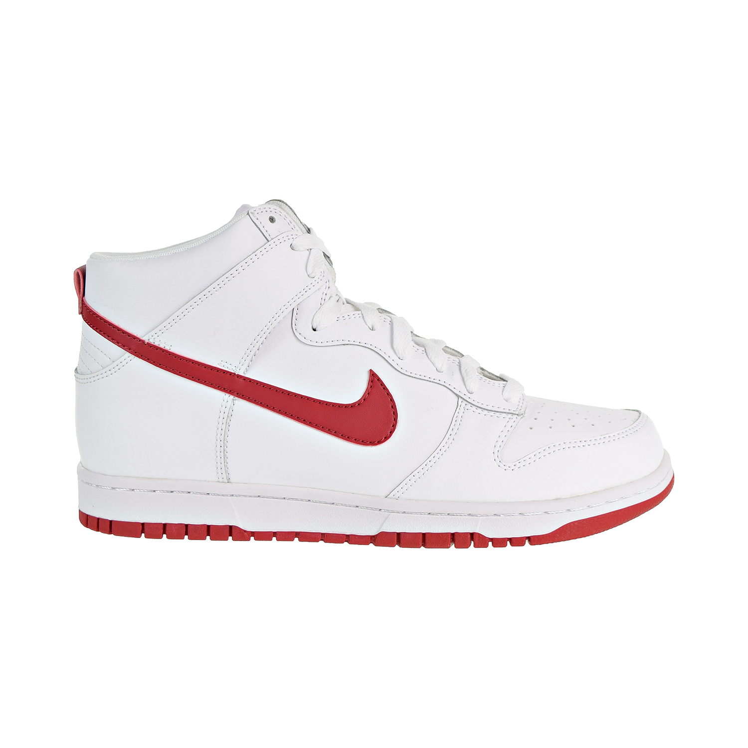 best loved e0c96 792d5 Details about Nike Dunk Hi Mens Shoes WhiteGym Red BlancRouge Gym  904233-102