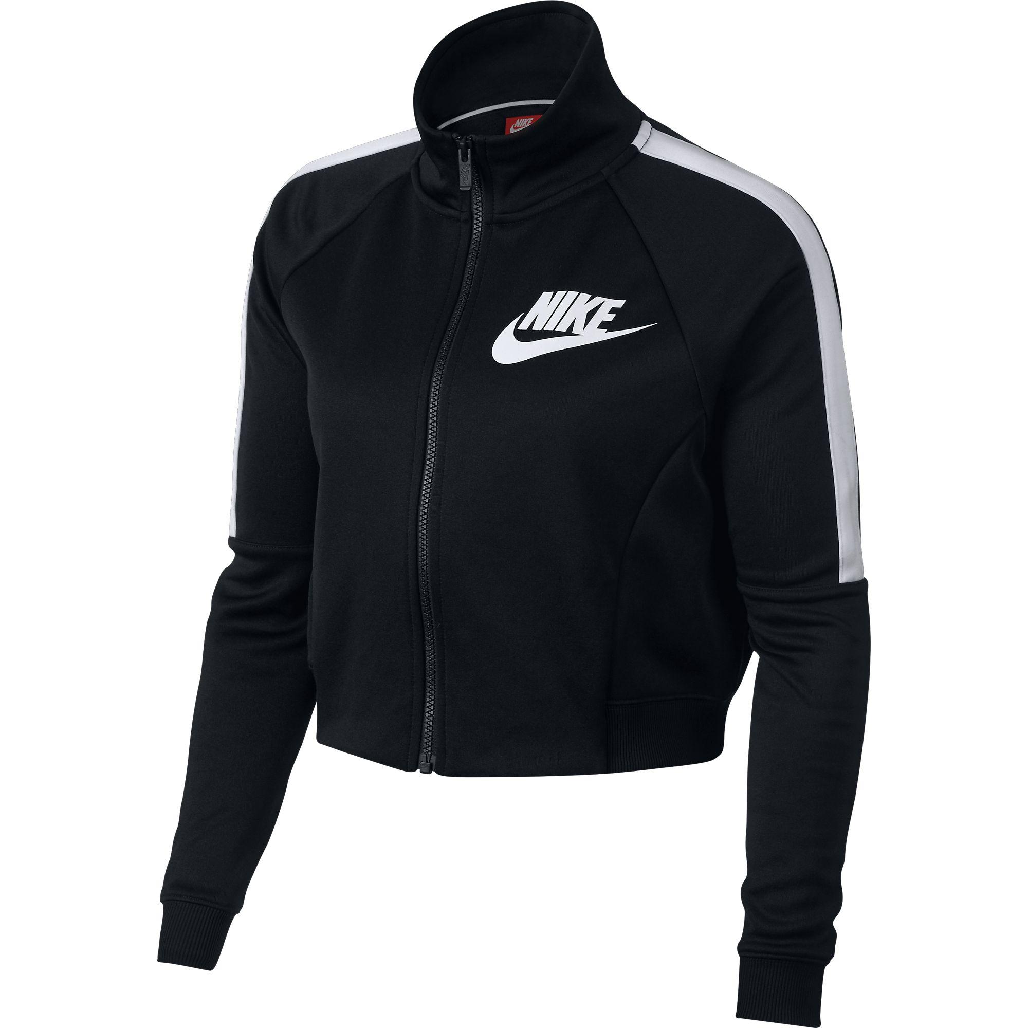 0a27200f00fc Details about Nike Sportswear N98 Women s Crop Track Jacket Black White  912879-010
