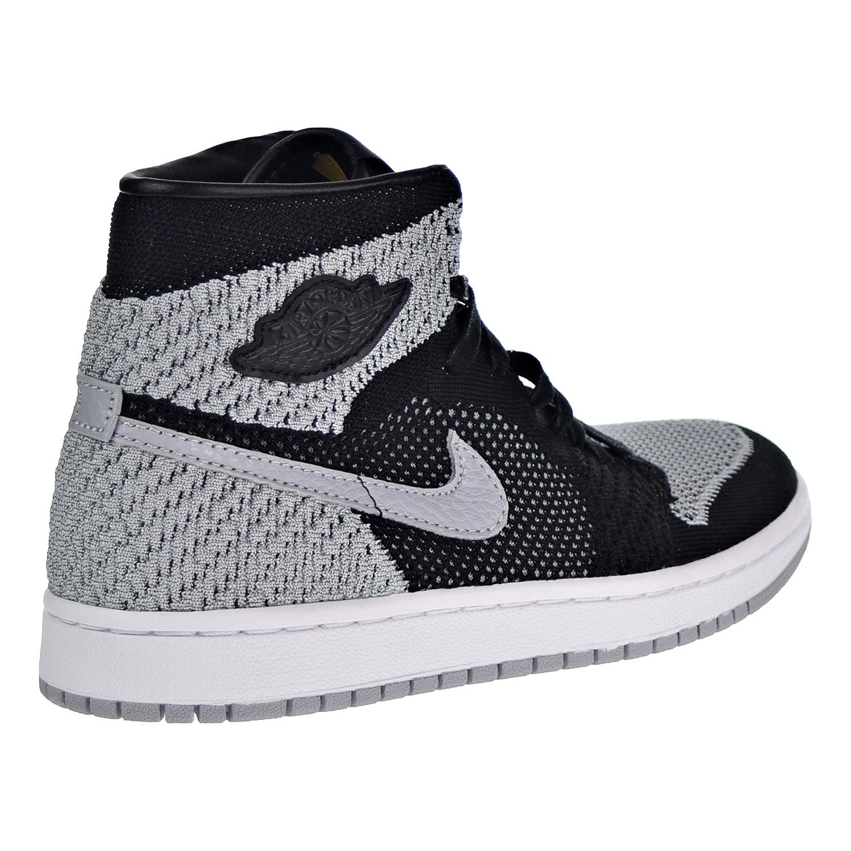 e216e20f825 Air Jordan 1 Retro High Flyknit Big Kid s Shoes Black Wolf Grey White  919702-003